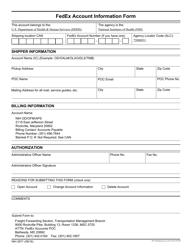 """Form NIH2971 """"Fedex Account Information Form"""""""
