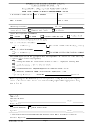 Form NIH-2408-1 Request for Use of Appropriated Funds/Gift Funds for Food and Beverage and Other Entertainment Expenses