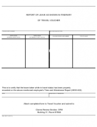 Form NIH-2027 Report of Leave as Shown in Itinerary of Travel Voucher