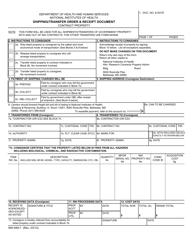 Form NIH-649-1 Shipping/Transfer Order & Receipt Document