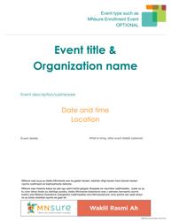 """Event Flyer Template - Mnsure"" - Minnesota (Somali)"