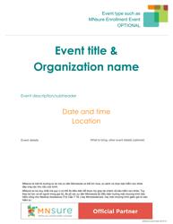 """Event Flyer Template - Mnsure"" - Minnesota (Vietnamese)"