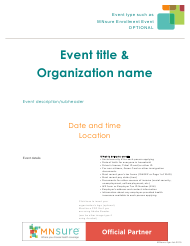 """Event Flyer With What to Bring List - Mnsure"" - Minnesota"