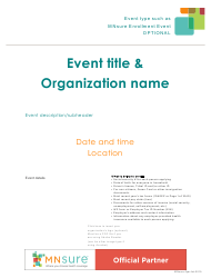 Event Flyer With What to Bring List - Mnsure - Minnesota
