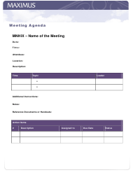"""Meeting Agenda Template - Maximus"""