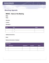 Meeting Agenda Template - Maximus