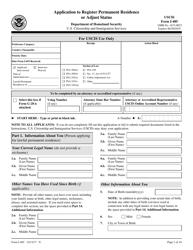USCIS Form I-485 Application to Register Permanent Residence or Adjust Status