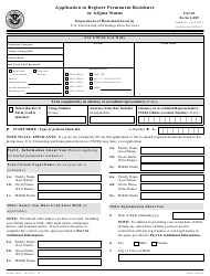 USCIS Form I-485 Application to Register Permanent Residence or Adjust Status