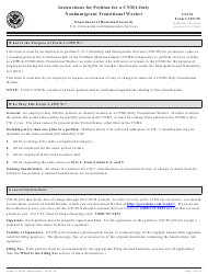 Instructions for USCIS Form I-129cw - Petition for a Cnmi-Only Nonimmigrant Transitional Worker