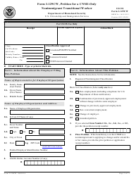 USCIS Form I-1-129CW Petition for a Cnmi-Only Nonimmigrant Transitional Worker