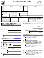 USCIS Form I-140 Immigrant Petition for Alien Workers