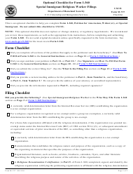 USCIS Form M-737 Optional Checklist for Form I-360 - Special Immigrant Religious Worker Filings