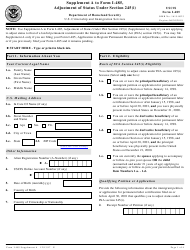 USCIS Form I-485 Supplement a to Form I-485 - Adjustment of Status Under Section 245(I)