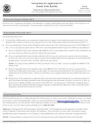 Instructions for USCIS Form I-817 - Application for Family Unity Benefits