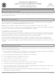 Instructions for USCIS Form I-824 - Application for Action on an Approved Application or Petition
