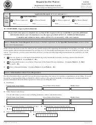 USCIS Form I-912 Request for Fee Waiver