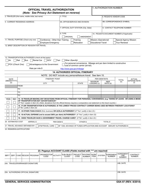 GSA Form 87 Printable Pdf