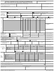 GSA Form 87A Official Change of Duty Station Authorization