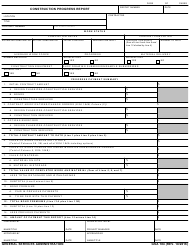 "GSA Form 184 ""Construction Progress Report"""