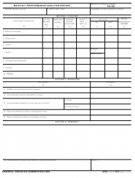 GSA Form 333 Monthly Performance Analysis Report