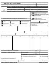GSA Form 300 Order for Supplies and Services