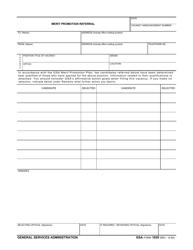 GSA Form 1029 Merit Promotion Referral