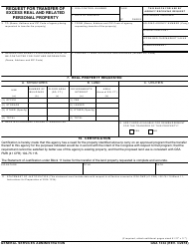 GSA Form 1334 Request for Transfer of Excess Real and Related Personal Property