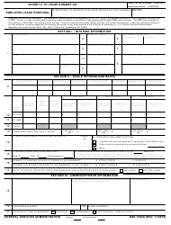 GSA Form 1364A Simplified Lease Proposal