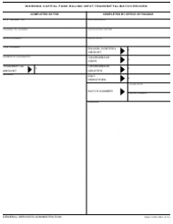 GSA Form 3091 Working Capital Fund Billing Input Transmittal/batch Record