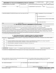"Form SF30 ""Amendment of Solicitation / Modification of Contract"""