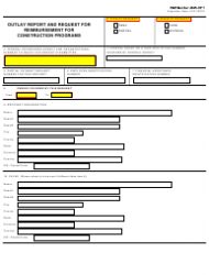 GSA Form SF-271 Outlay Report and Request for Reimbursement for Construction Programs