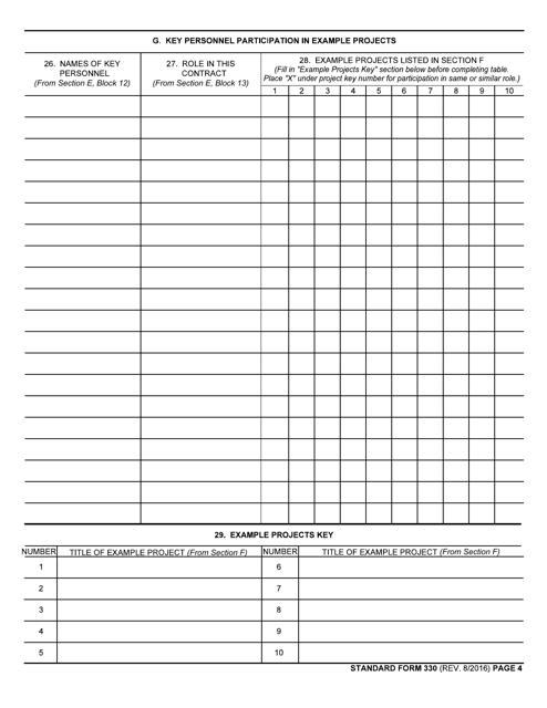 GSA Form SF-330 Printable Pdf