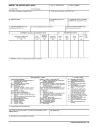 "Form SF-364 ""Report of Discrepancy (Rod)"""