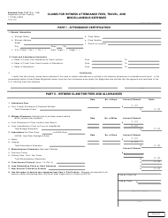 "Form SF1157 ""Claims for Witness Attendance Fees, Travel, and Miscellaneous Expenses"""