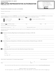 "Form K-CNS032 ""Employer Representative Authorization"" - Kansas"