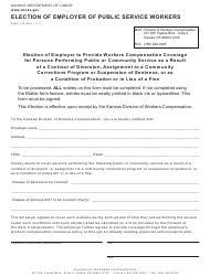 "K-WC Form 135 ""Election of Employer of Public Service Workers"" - Kansas"
