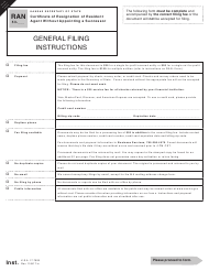 "Form RAN53 ""Certificate of Resignation of Resident Agent Without Appointing a Successor"" - Kansas"