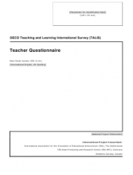 Teacher Questionnaire Template - Oecd Teaching and Learning International Survey (Talis)