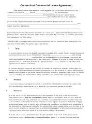 Commercial Lease Agreement Template - Connecticut
