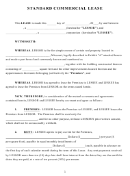 """Standard Commercial Lease Template"""