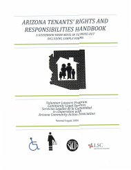 """Arizona Tenants' Rights and Responsibilities Handbook: a Guidebook From Move-In to Move-Out Including Sample Forms"" - Arizona"
