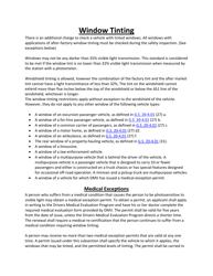 North Carolina Window Tinting Laws and Medical Exceptions - North Carolina
