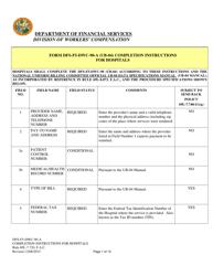 "Instructions for Form CMS-1450 ""Institutional Billing Form (Hospitals)"" - Florida"