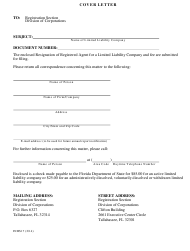 "Form INHS17 ""Statement of Resignation of Registered Agent for a Limited Liability Company"" - Florida"