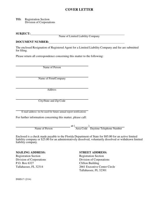 Form INHS17  Printable Pdf