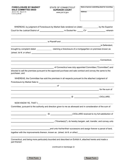 Form JD-CV-153  Printable Pdf