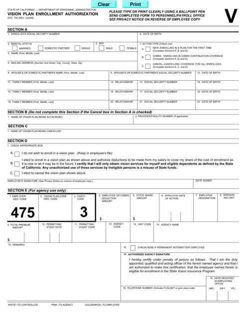 Form STD.700  Printable Pdf