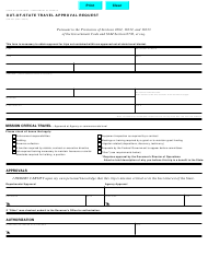 "Form STD.257 ""Out-Of-State Travel Approval Request"" - California"