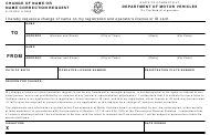 "Form E78 ""Change of Name or Name Correction Request"" - Connecticut"