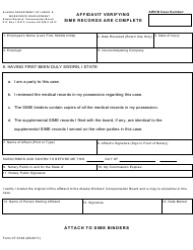 "Form 07-6148 ""Affidavit Verifying Sime Records Are Complete"" - Alaska"